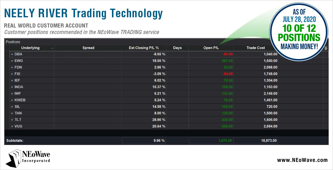 NEoWave Trading Positions